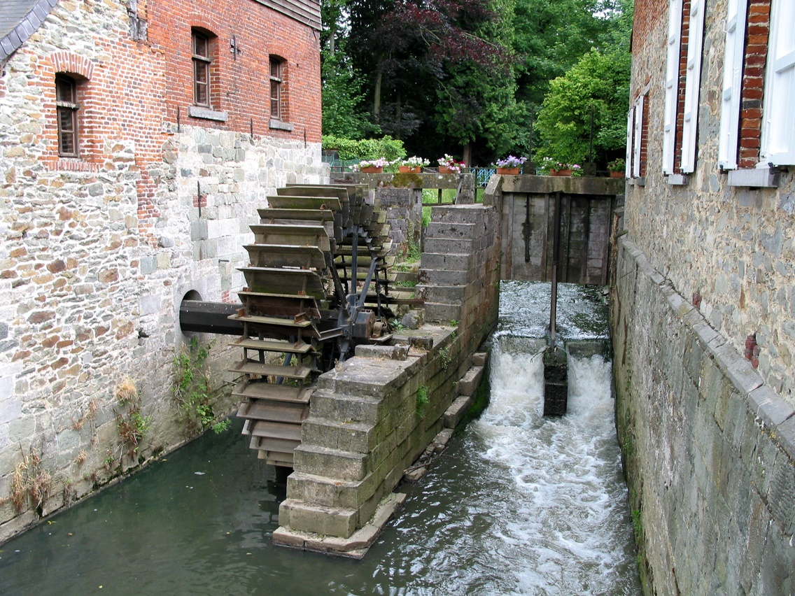 Medieval Water Mill in Belgium